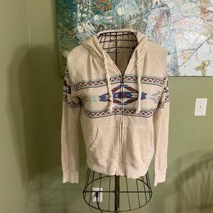 Ladies Billabong zip up hoodie in size M.